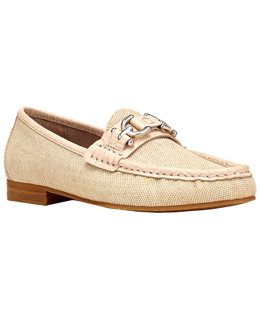 9dd08addc25 Lyst - Donald J Pliner Suzy Canvas Loafer in Natural - Save 38%