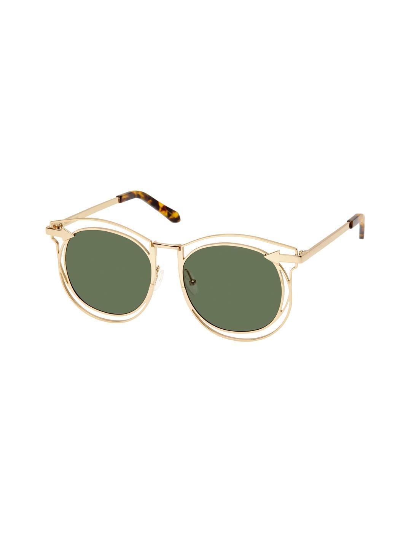 695808c7c8 Karen Walker Marguerite Mirrored Oversized Oval Frame in Green - Lyst