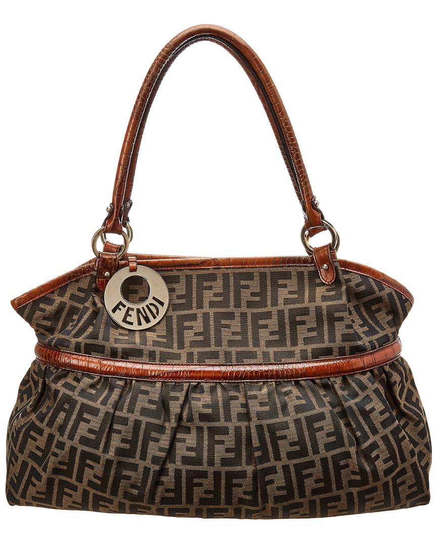 9082be15aa6 Fendi Brown Zucca Canvas Chef Bag in Brown - Lyst