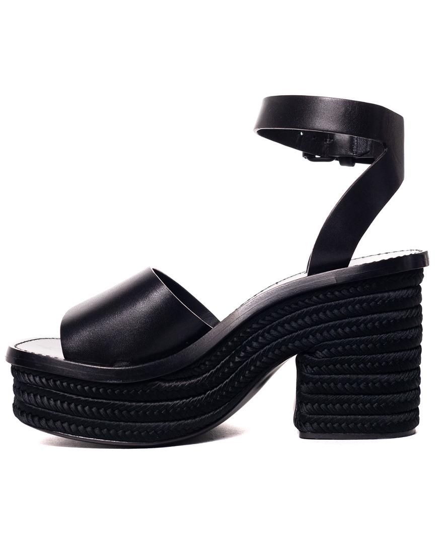55a4e9da8d1 Lyst - Céline Leather Wedge Espadrille Sandal in Black