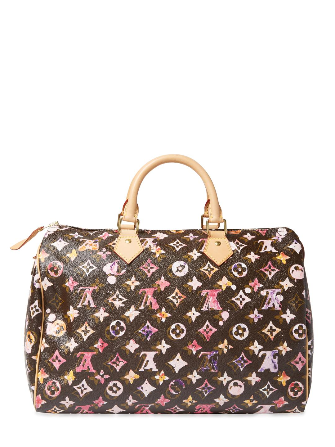 16008305fa56 Louis Vuitton Vintage X Richard Prince Monogram Aquarelle Speedy 25 ...