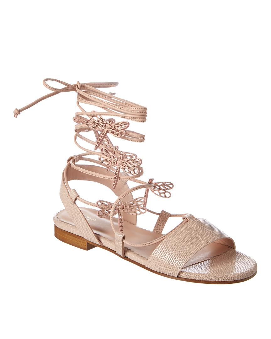 616dd5e468df RED Valentino Flying Up Leather Sandal in Pink - Save 41% - Lyst