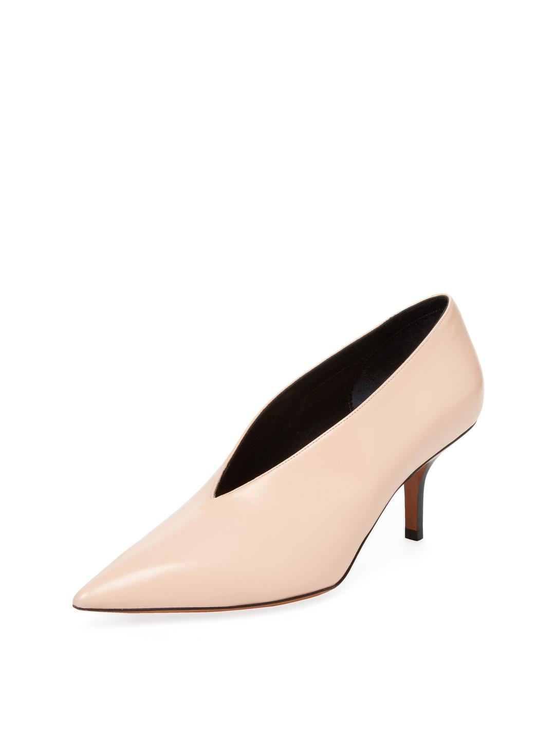 779a19f0b83 Lyst - Céline Essential V Neck Leather Pump in Pink