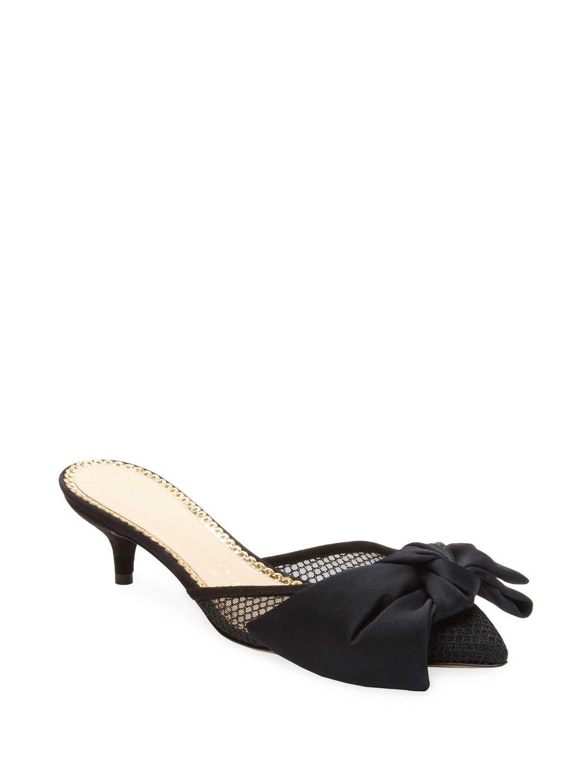 31e98f49d56 Charlotte Olympia Kitten-heel Mule in Black - Lyst
