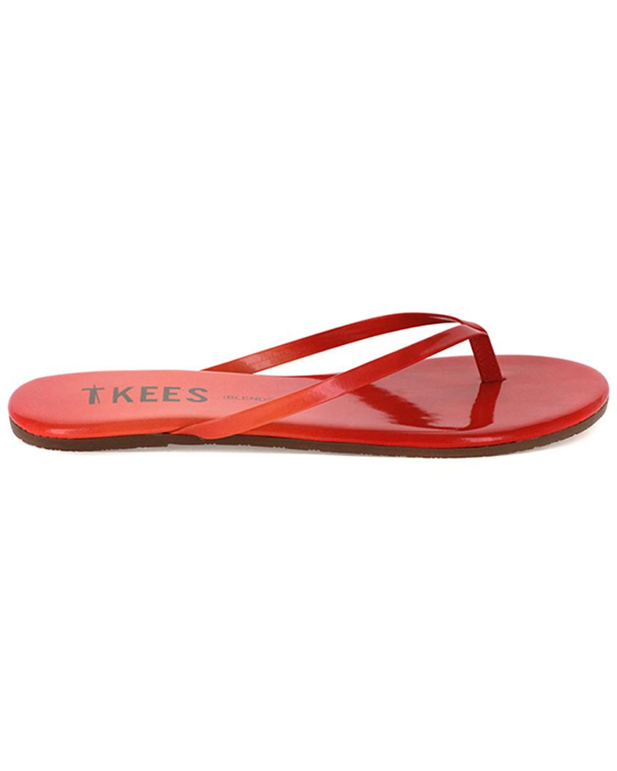 Tkees Blends Leather Flip Flop In Red - Save 20 - Lyst-1989