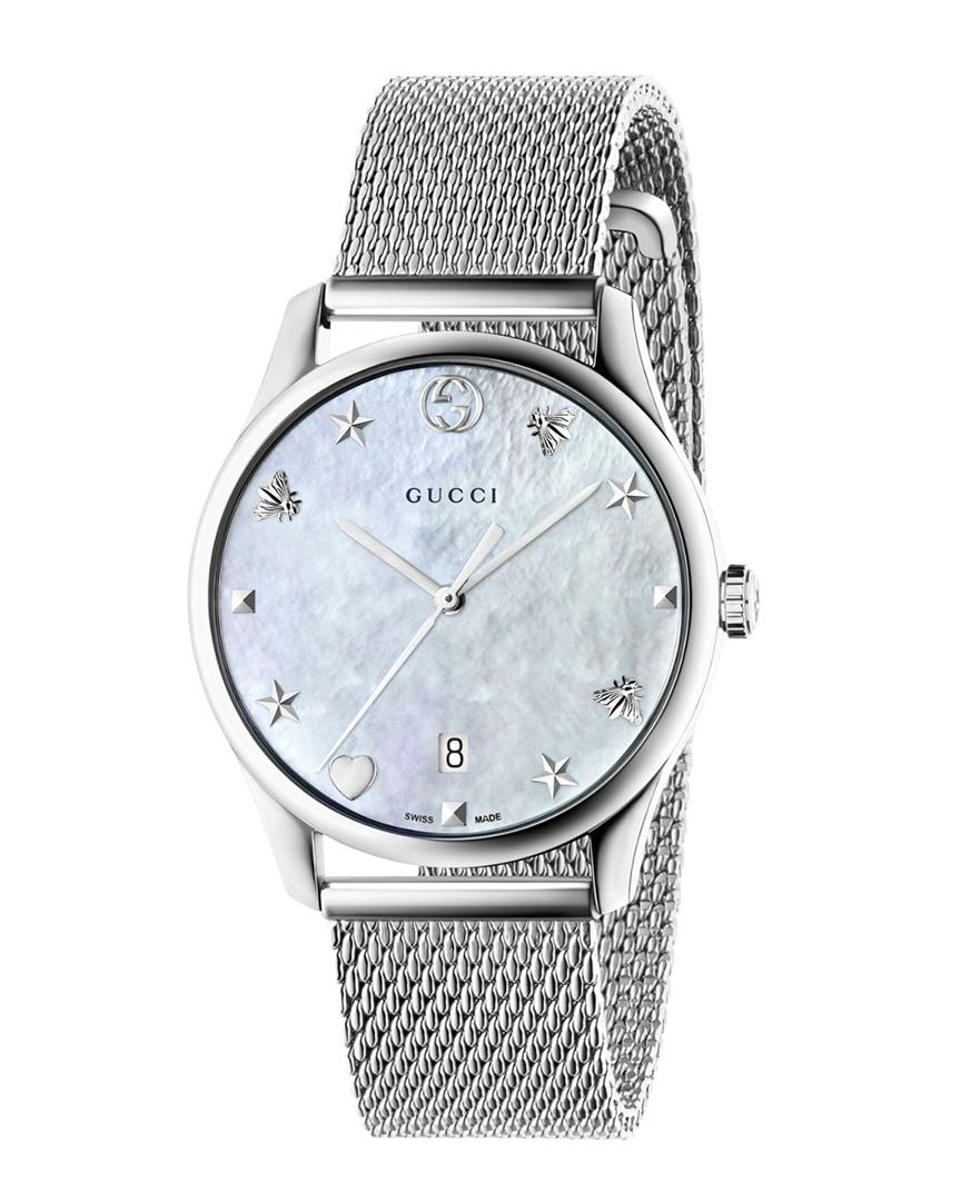 9296669bae Gucci Ya1264094 G-timeless Mother Of Pearl And Stainless Steel Watch ...