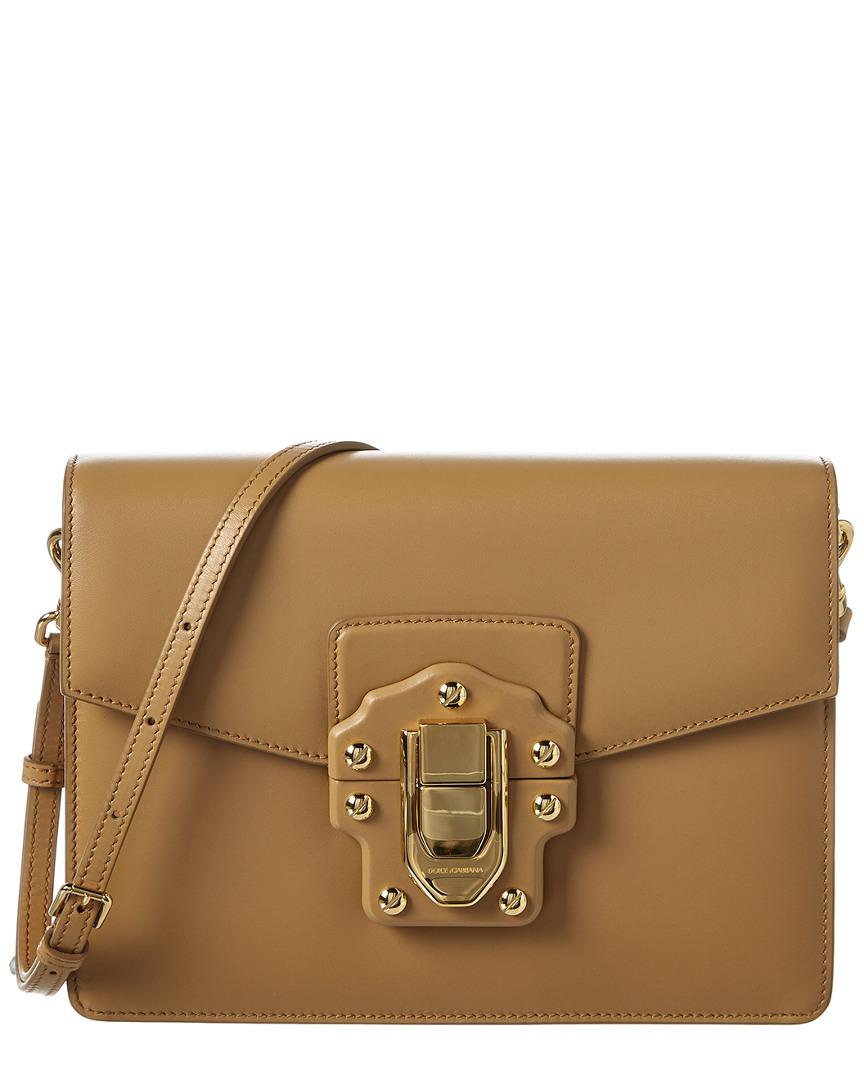 fae006722d51 Lyst - Dolce   Gabbana Lucia Leather Shoulder Bag in Brown