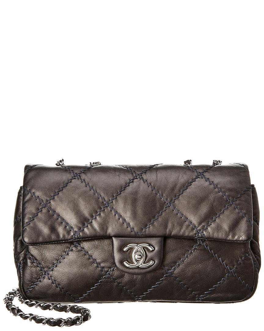 d7f094f8ee73 Chanel. Women's Gray Grey Quilted Lambskin Leather Ultimate Stitch Medium  Flap Bag