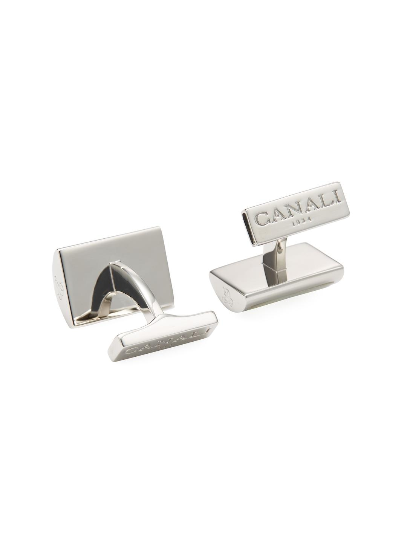 Canali button embellished cufflinks - Metallic Fjtr5