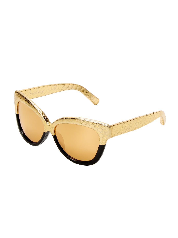349ff630e2 Linda Farrow 60.5mm Cat-eye Sunglasses in Metallic - Lyst