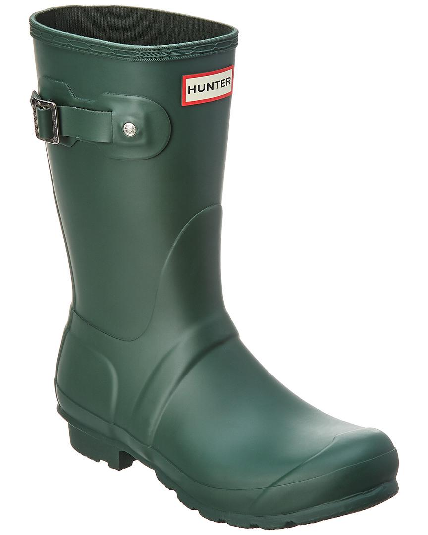 d61723da5 Hunter - Original Short Back Adjustable Rain Boots ( Green) Women's Rain  Boots - Lyst. View fullscreen