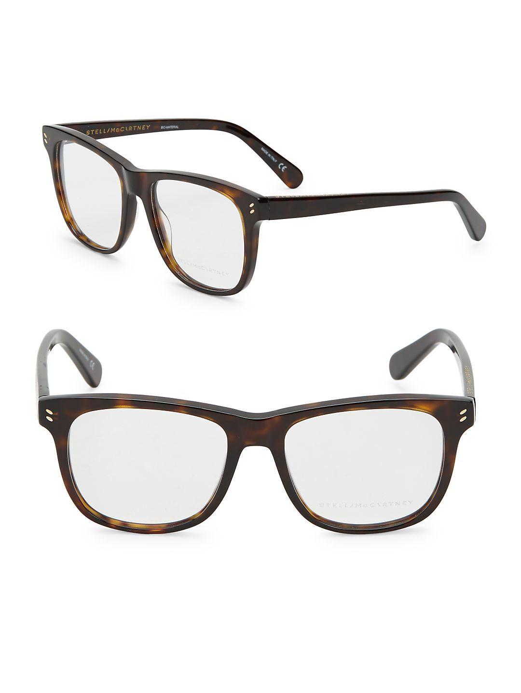 4df7c7e032 Stella McCartney 52mm Tortoise Shell Optical Glasses - Lyst