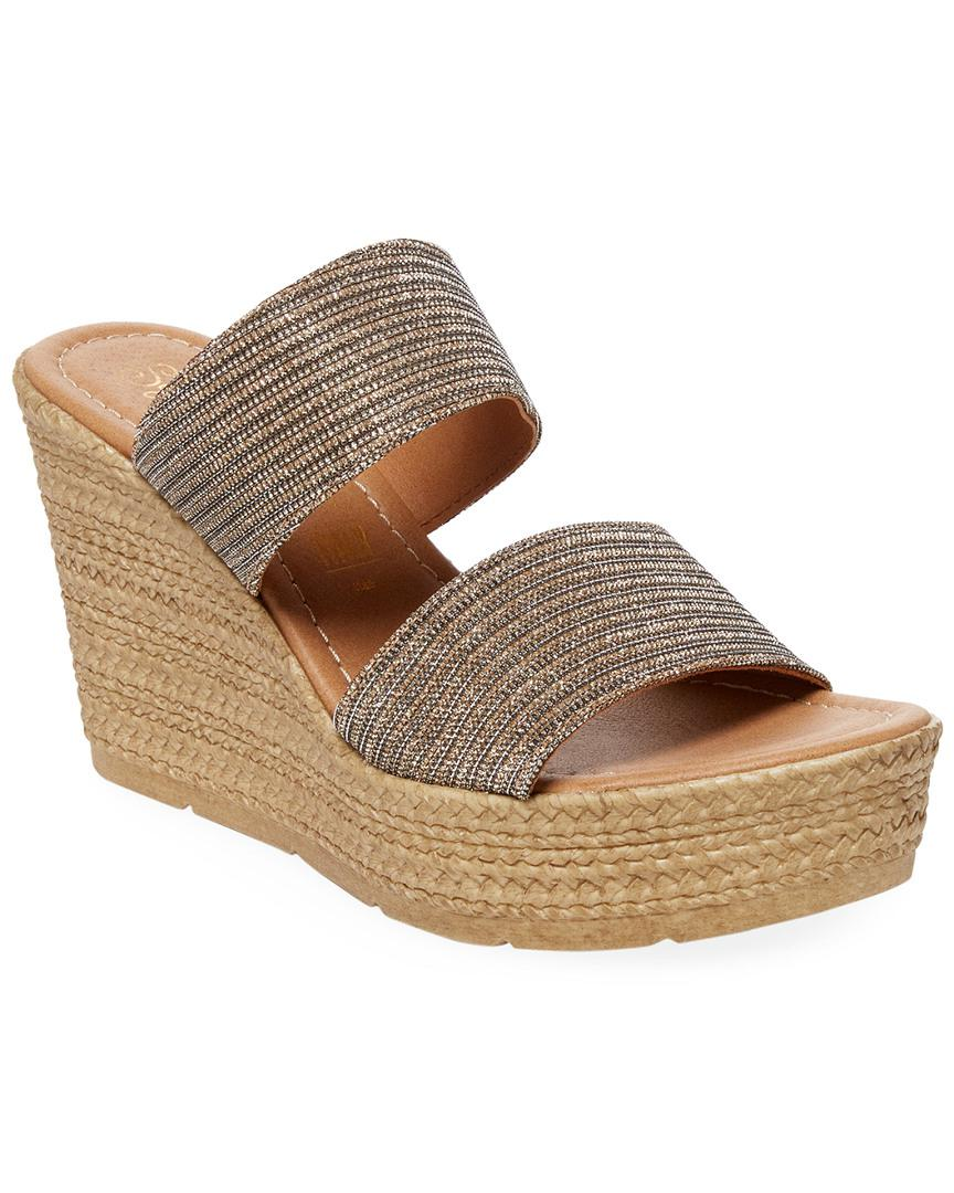 40039a224983 Seychelles - Metallic Two-strap Wedge Sandal - Lyst. View fullscreen