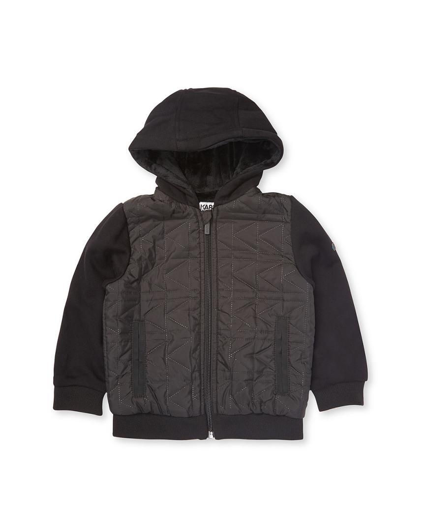 In Karl Lagerfeld Rib Men Lyst For Black Sweater Hooded XBqSwd