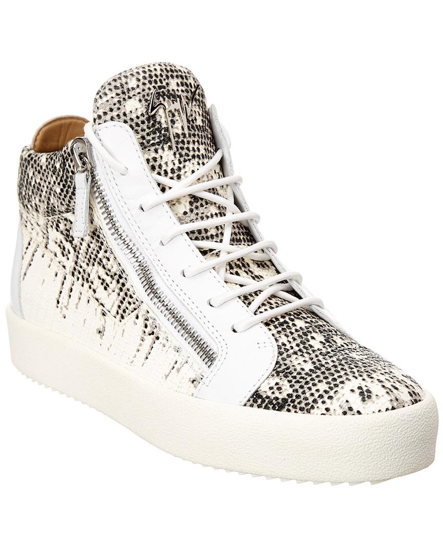 0c85c52a4a430 Giuseppe Zanotti Kriss Leather Sneaker in White for Men - Lyst