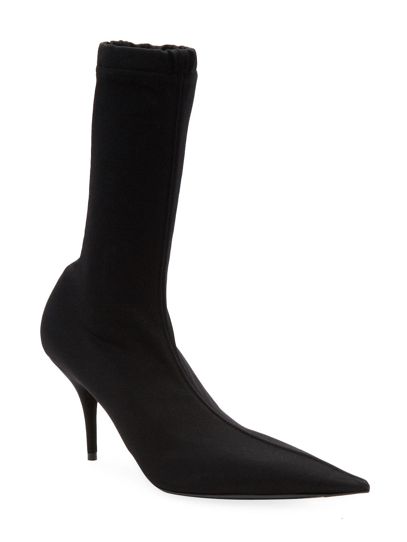 faa7078895d84 Lyst - Balenciaga Point-toe Sock Boots in Black