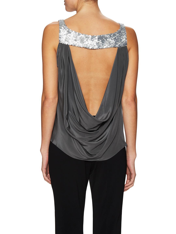 e5456911fc423 Lyst - Jay Godfrey Mima Silk Sequin Embellished Top