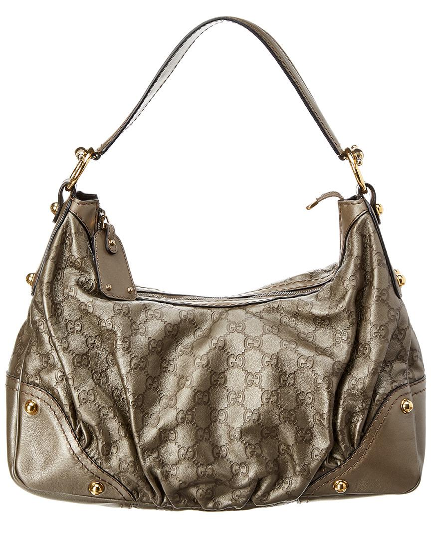 d37bc9b1157 Gucci Grey Ssima Leather Jockey Hobo in Gray - Save ...