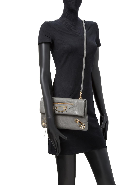 27272cb2f08f Lyst - Balenciaga Classic Metallic Edge Envelope Strap Crossbody Bag ...