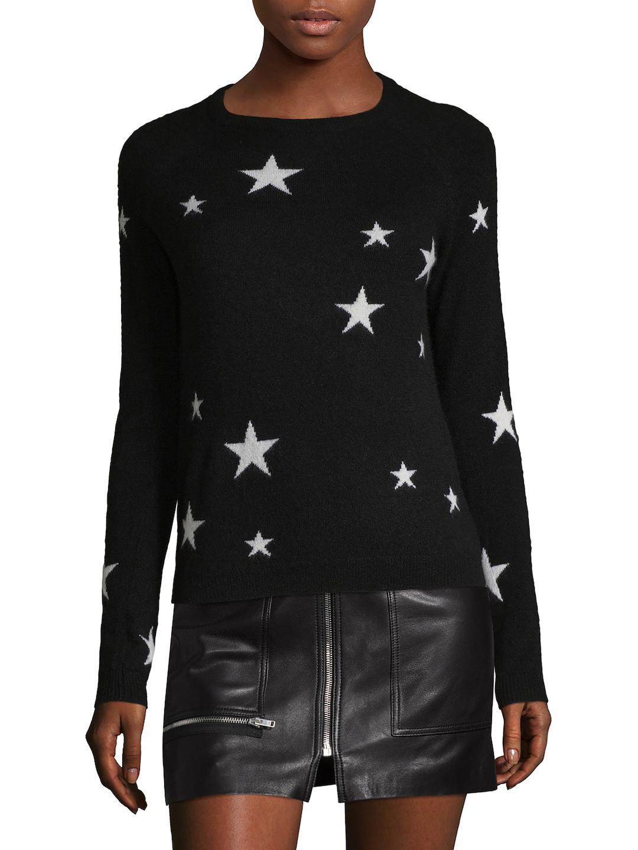 Sea blue Star Intarsia Cashmere Sweater in Black | Lyst