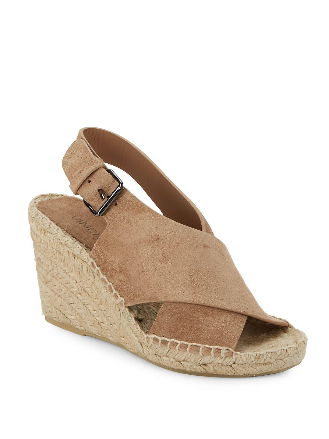 1e52b9a010 Lyst - Vince Sabrina Wedge Sandals in Natural