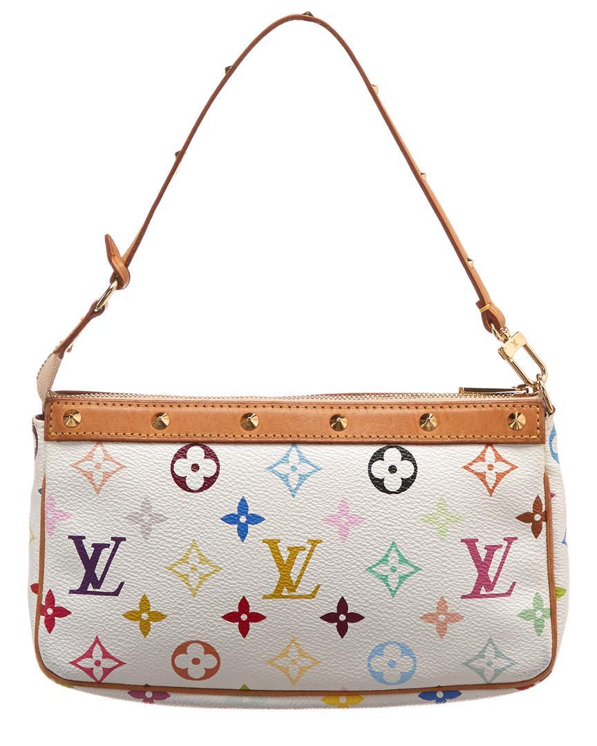 633fae3ff8e8 Louis Vuitton White Monogram Multicolore Canvas Pochette Accessoires in  White - Lyst