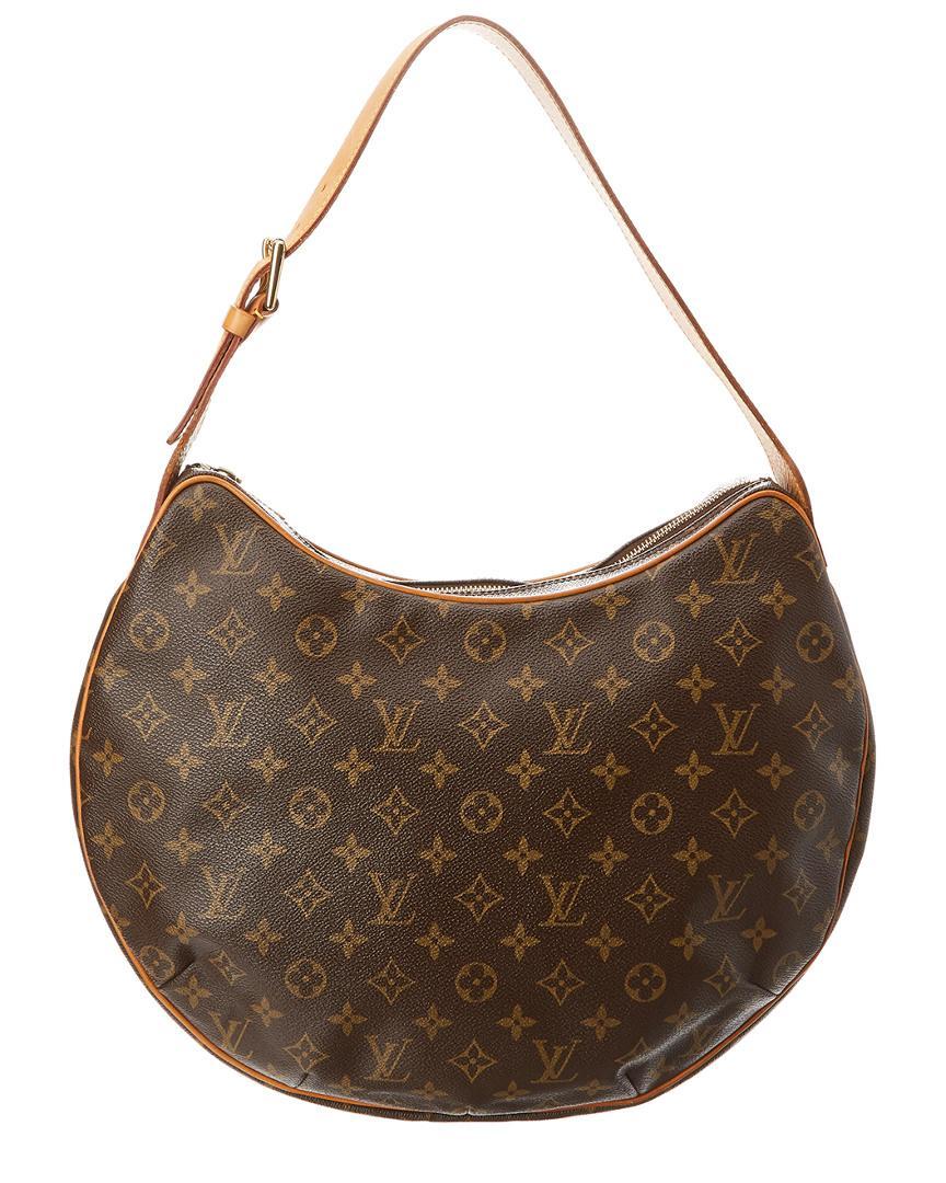 51c31e9827d3 Lyst - Louis Vuitton Monogram Canvas Croissant Gm in Brown
