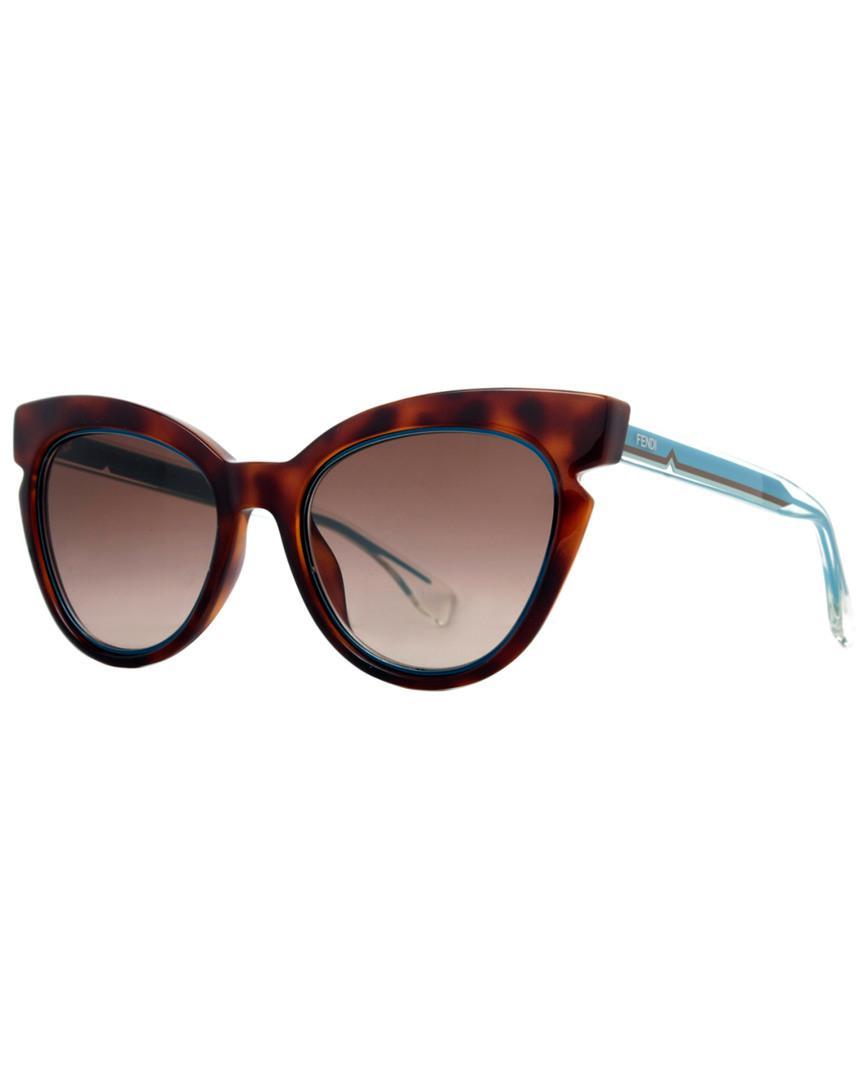 2019b764616fe Fendi Women s Ff0132 s 51mm Sunglasses in Brown - Lyst