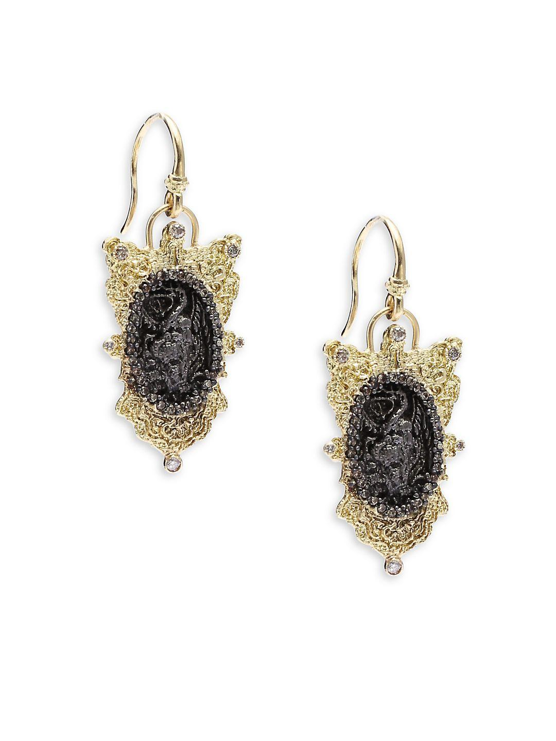 Armenta Old World Pear Cluster Earrings w/ Mixed Stones & Diamonds gQR0mJrU