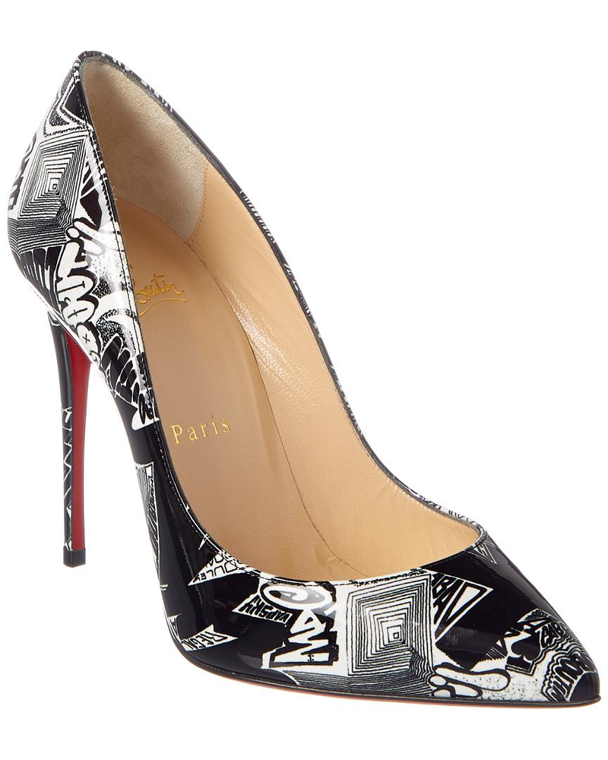 ac40edb8d61b Christian Louboutin. Women s Black Pigalle Follies 100 Graffiti Patent Pump
