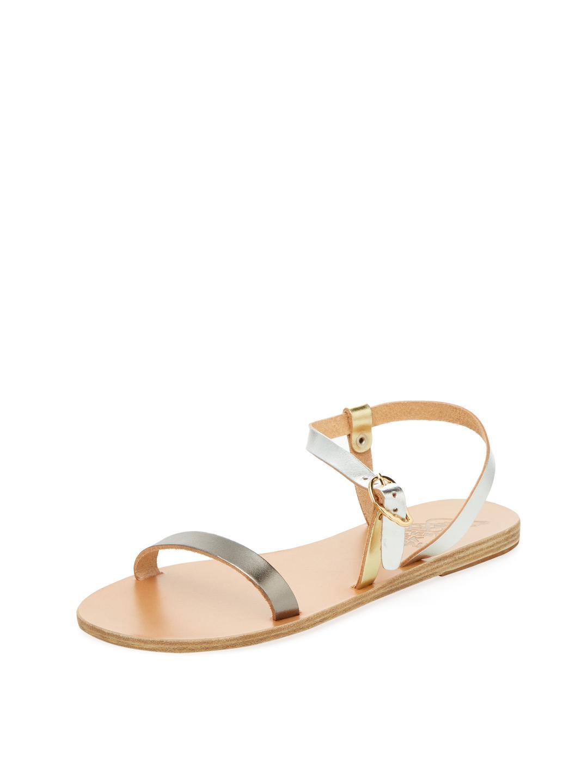 Niove flat sandals - Metallic Ancient Greek Sandals 3CwK5hcDQJ