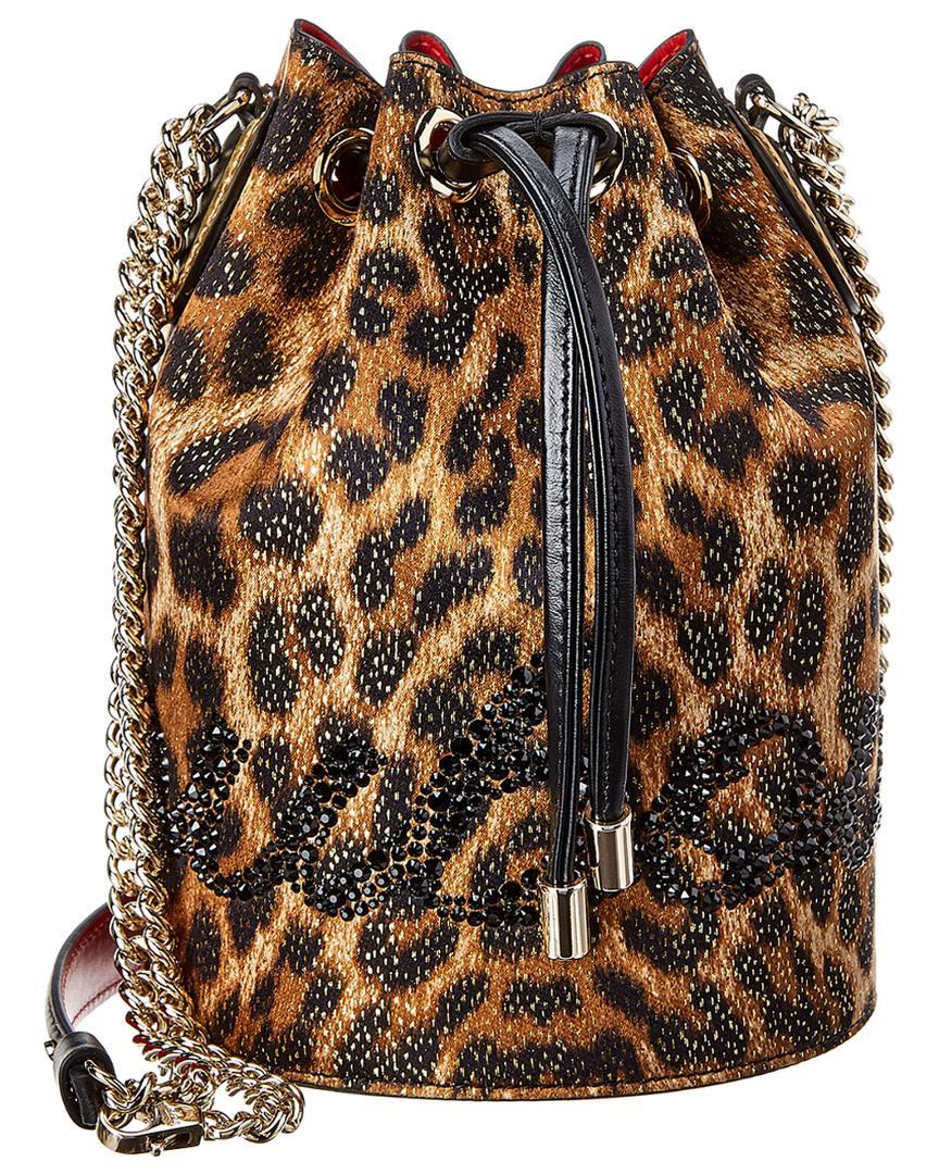 318daaa1469 Women's Black Marie Jane Lurex & Leather Bucket Bag