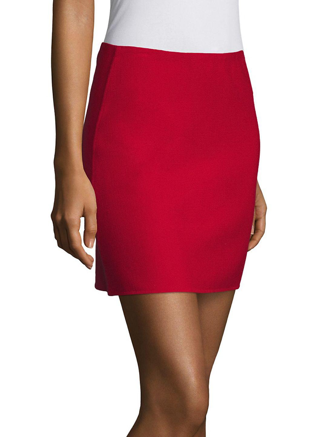 3948e4dcca Theory Irenah Saxton A-line Mini Skirt in Red - Lyst