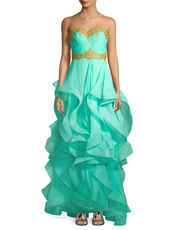 Lyst - Reem Acra Gown in Green