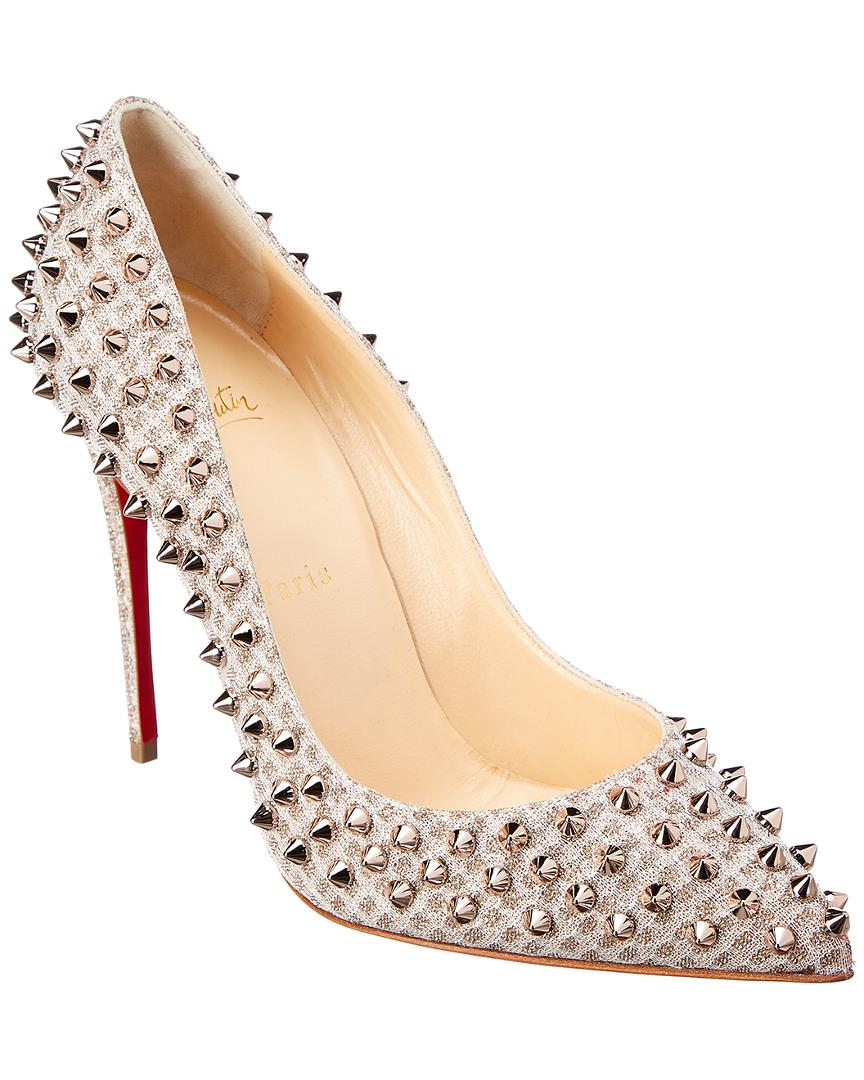 d60a17206583 Christian Louboutin Follies Spike 100 Leather Pump in Natural - Save ...