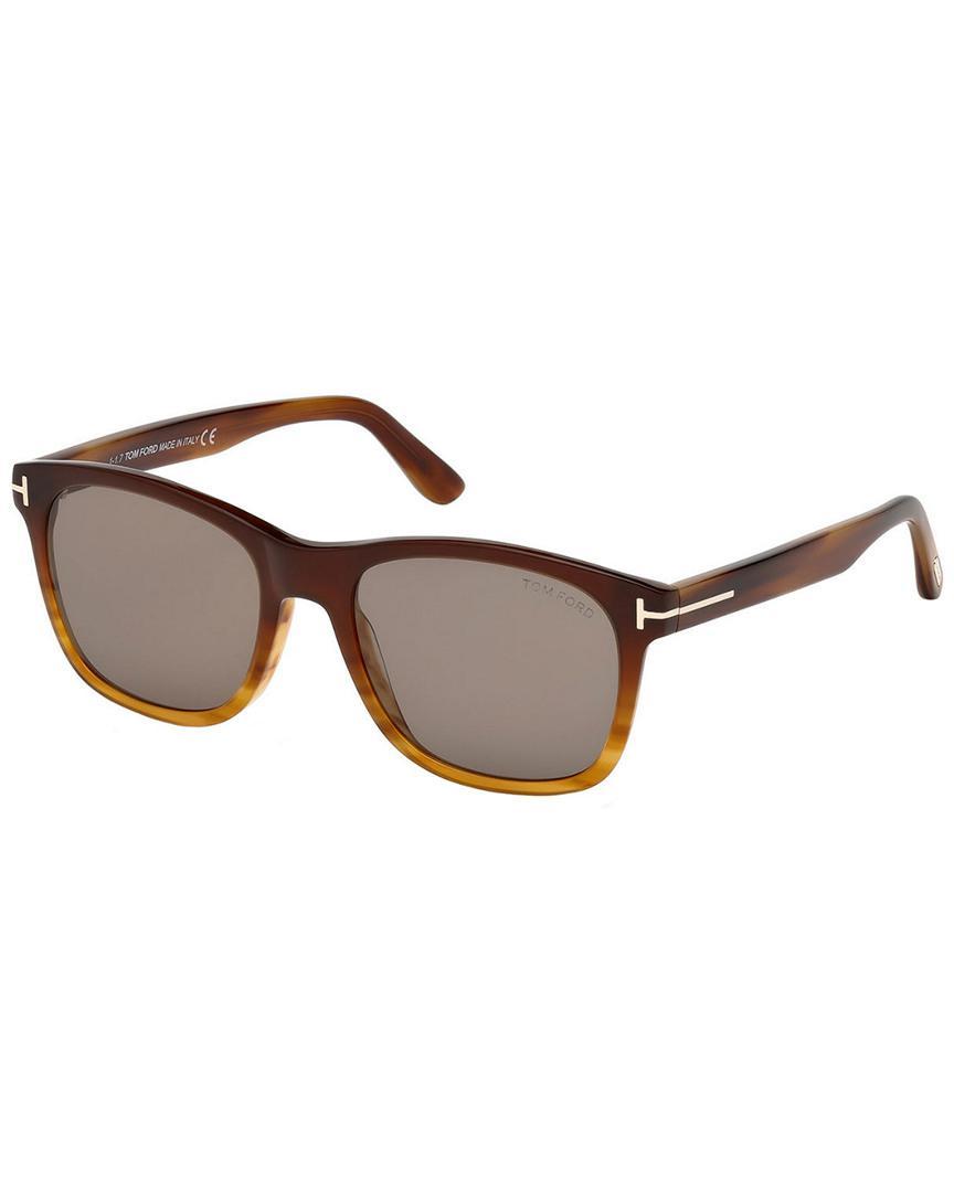 023f8e96e21fb Tom Ford - Brown Men s Eric 55mm Sunglasses for Men - Lyst. View fullscreen