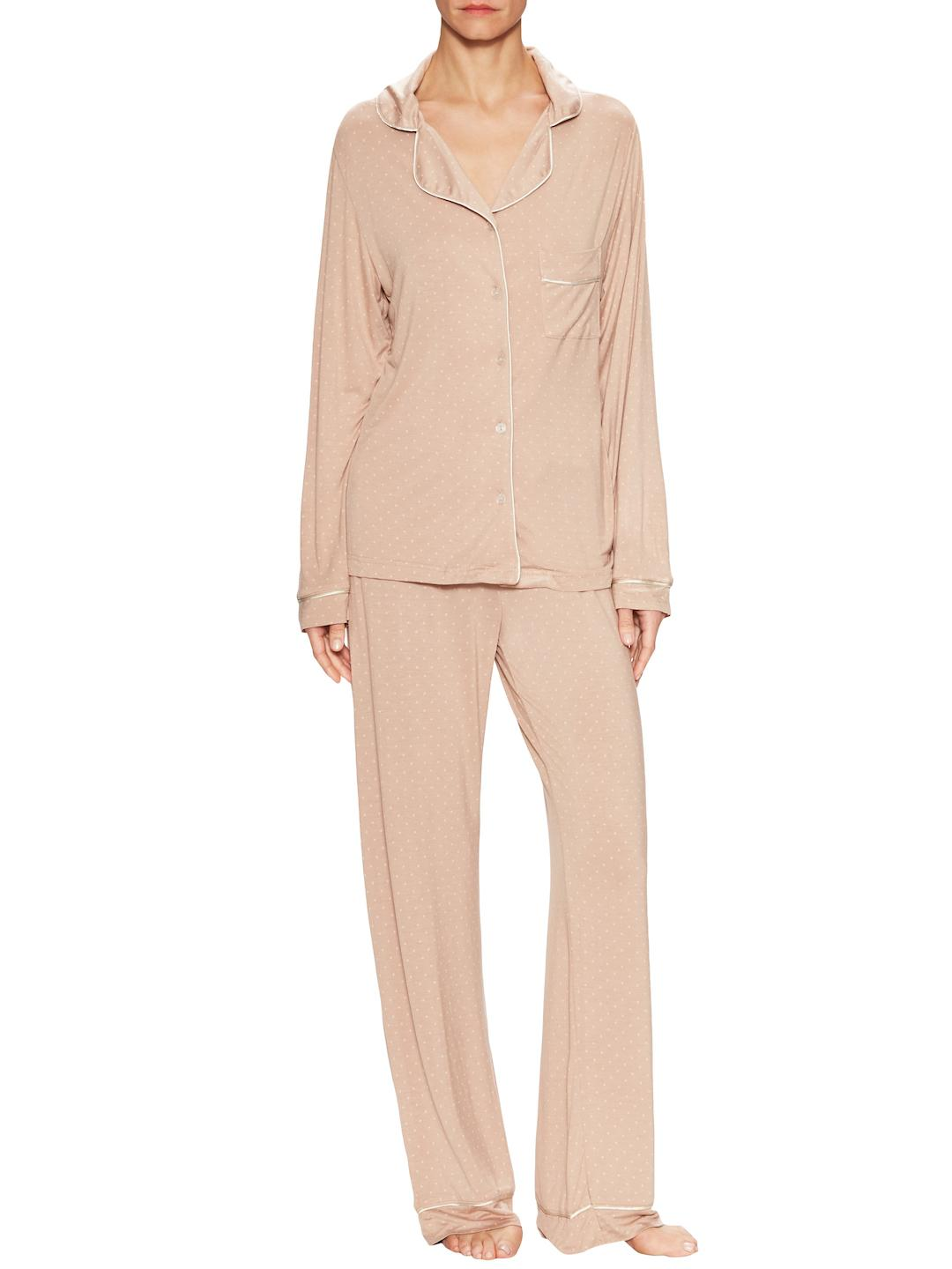 91fa6d22991e Lyst - Blush Lingerie Collette Relaxed Fit Pajama Set in Natural