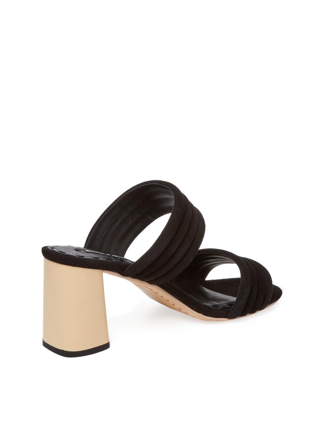 dac7a9be3 Lyst - Alice + Olivia Colby Leather Sandal in Black