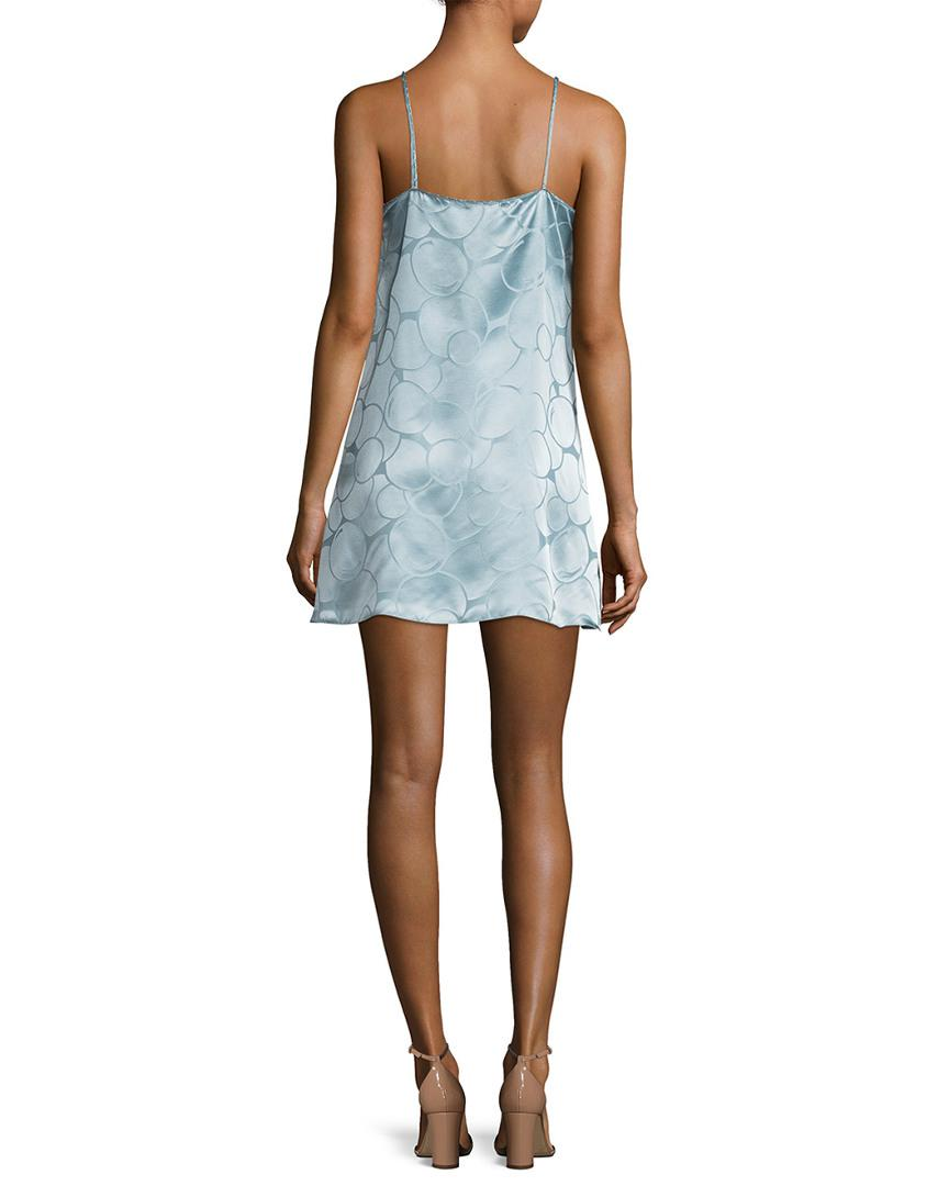 d3b8a3382345 Lyst - Anna Sui Deco Textured Circle Slip Dress in Blue - Save 41%