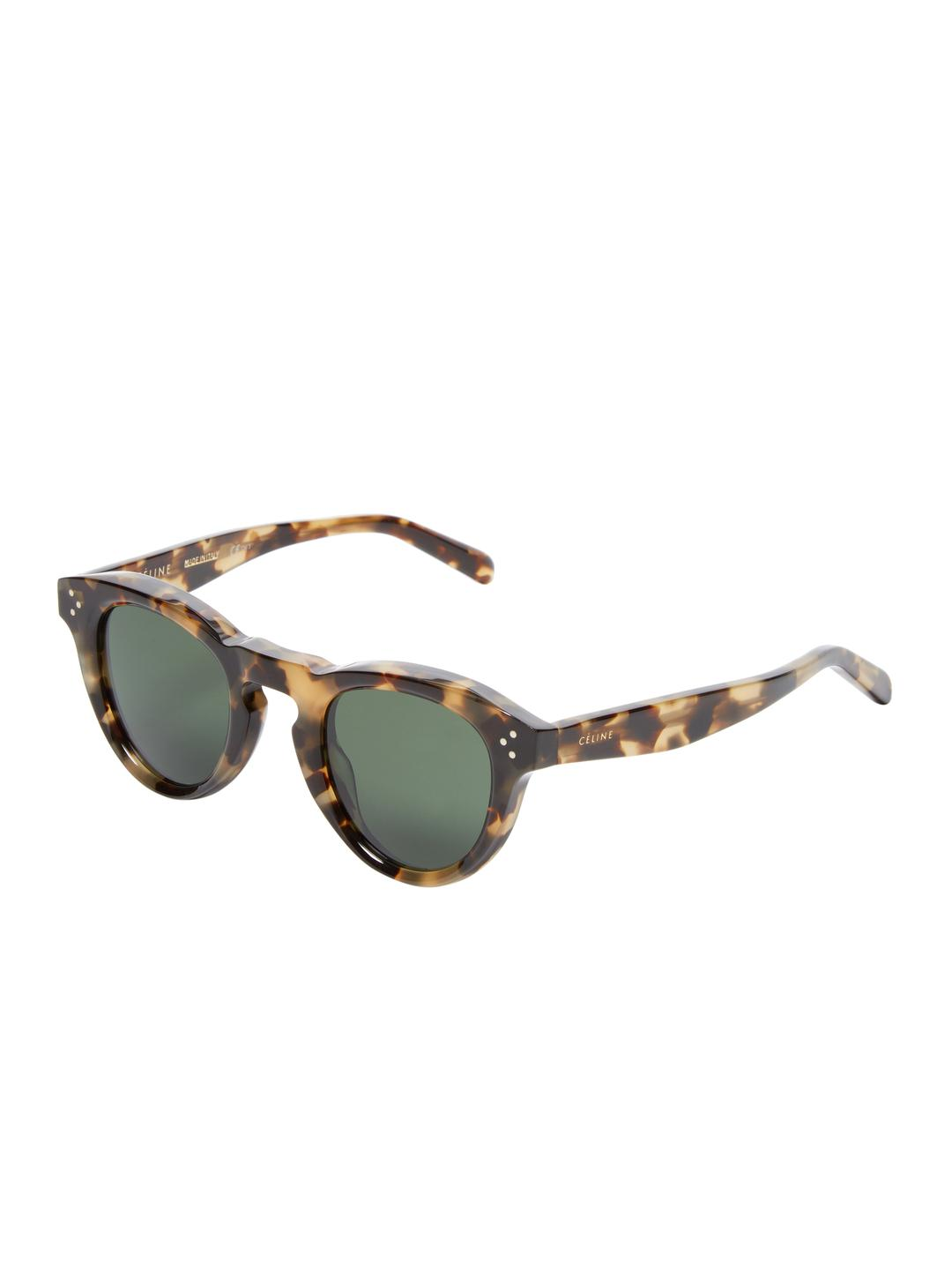 Lyst - Céline Bevel Keyhole Cat Eye Frame in Brown
