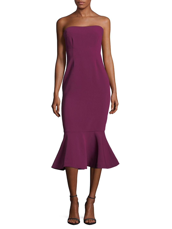 d29fb7997253 Cinq À Sept Luna Strapless Dress in Purple - Lyst