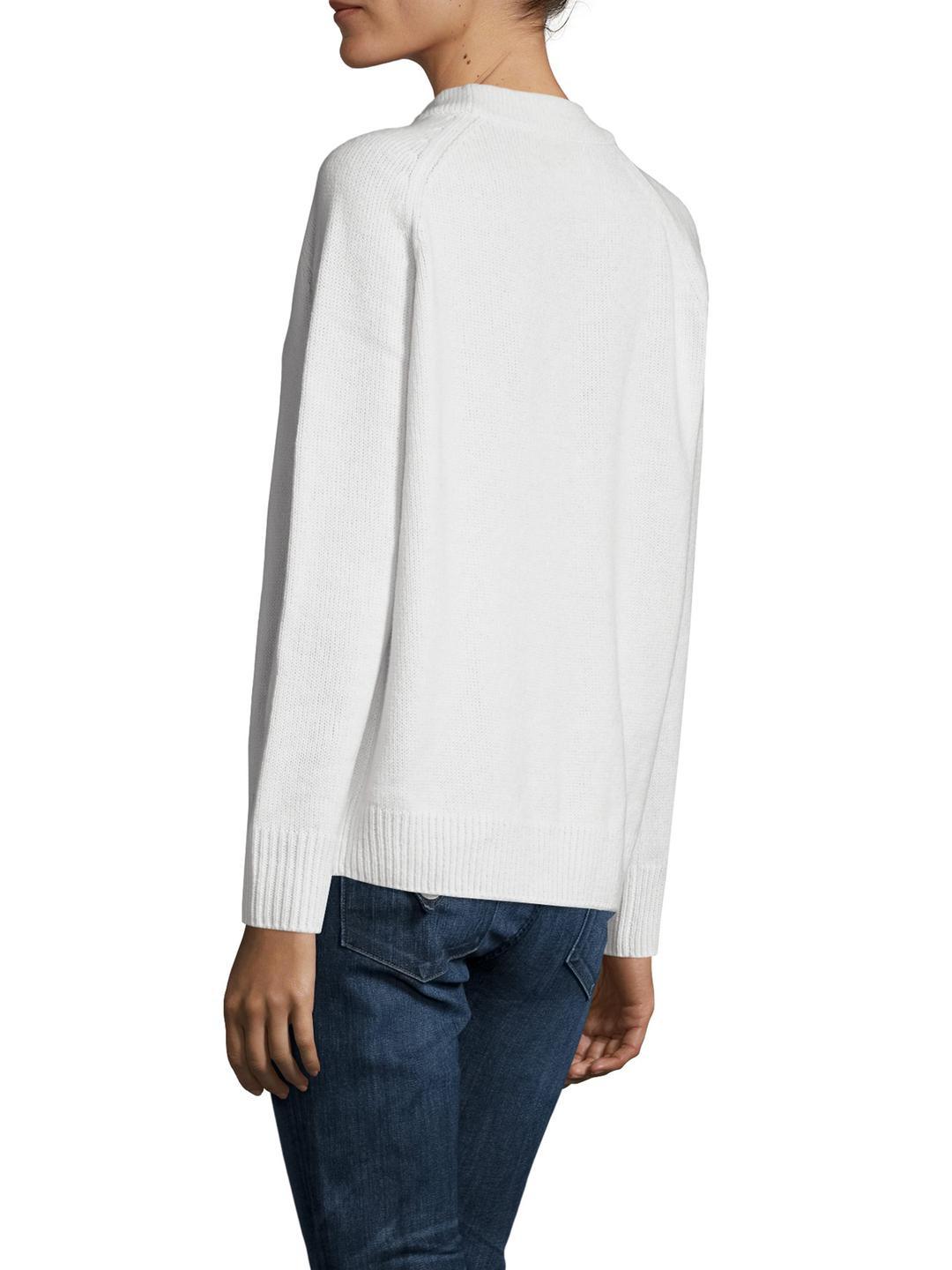 Wythe ny Cashmere Crewneck Sweater in White | Lyst