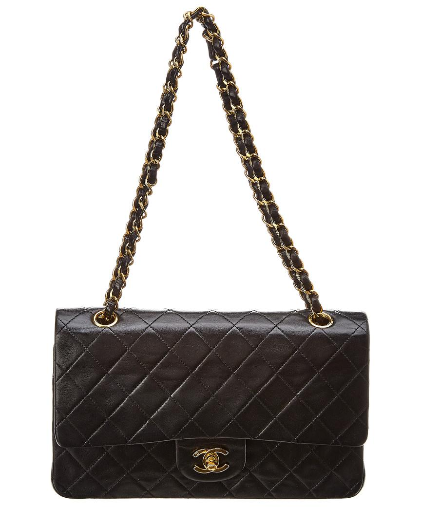 d97783fa4c42 Chanel - Black Quilted Lambskin Leather Classic Medium Double Flap Bag -  Lyst. View fullscreen