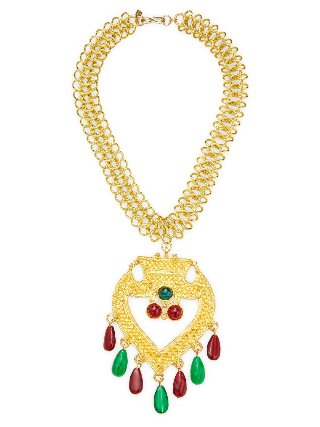 Kenneth Jay Lane Ruby, Emerald, And Sapphire Necklace Ruby/emerald