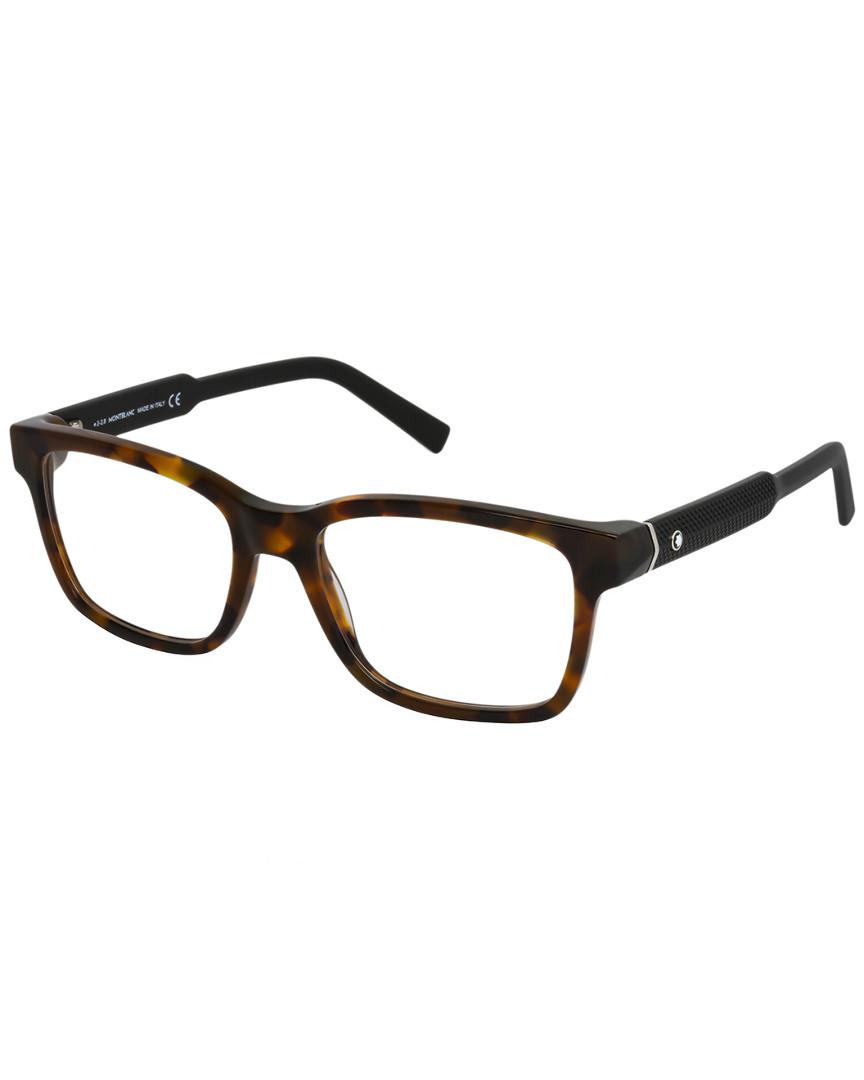 e299b1ffed Montblanc Mont Blanc Men s Mb0680 56mm Optical Frames in Brown - Lyst
