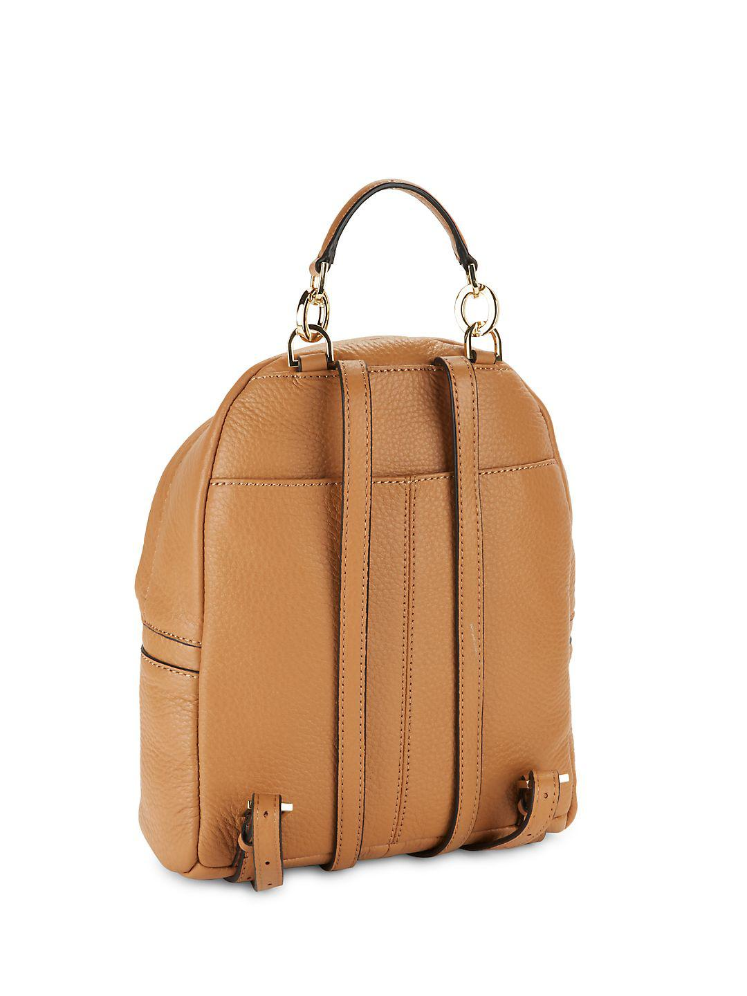 3159ade23db CALVIN KLEIN 205W39NYC Lynn Pebbled Leather Backpack in Brown - Lyst