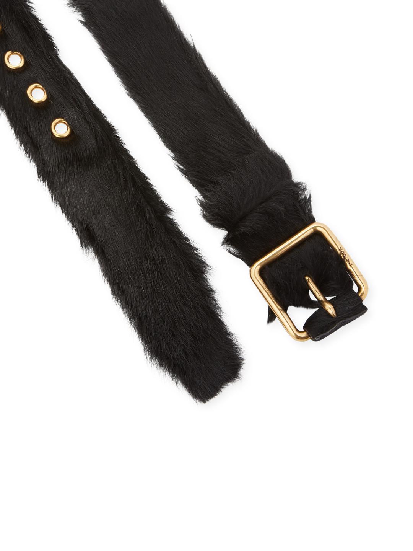 goat fur belt - Blue Closed 5QWJIP