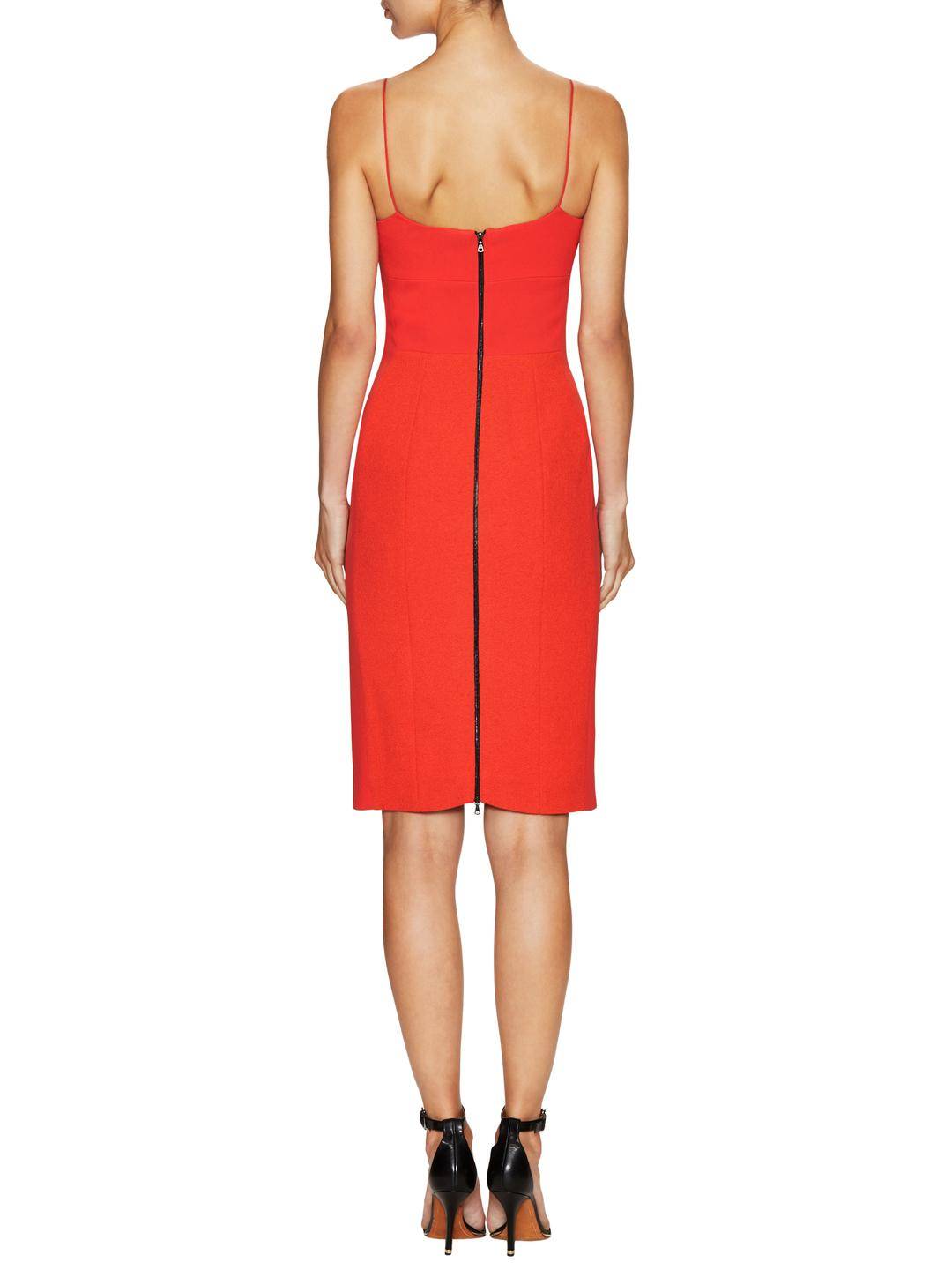 2caad70717f Narciso Rodriguez Wool Bustier Dress in Red - Lyst