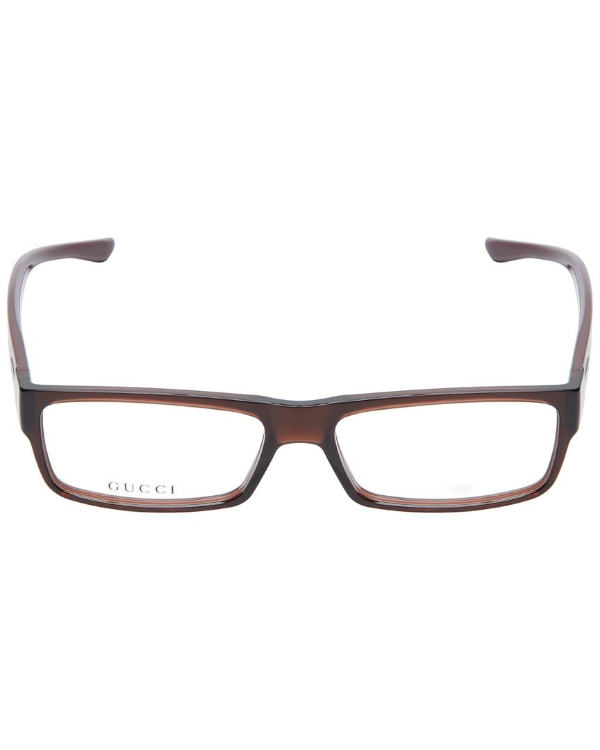 aa01cd783f Lyst - Gucci Clothing   Accessories Saddle Wayfarer Optical Frame in Brown  for Men