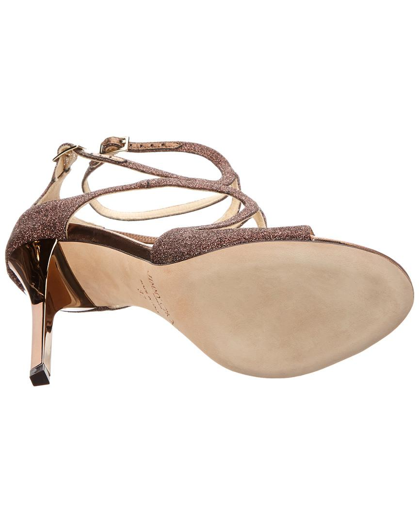 c35a73ed20457c Jimmy Choo - Brown Paloma Lang Heeled Sandals - Lyst. View fullscreen